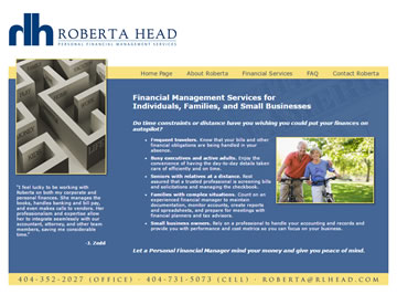 Roberta Head – Personal Financial Management Services